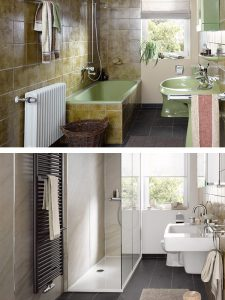 Badewanne raus - Dusche rein